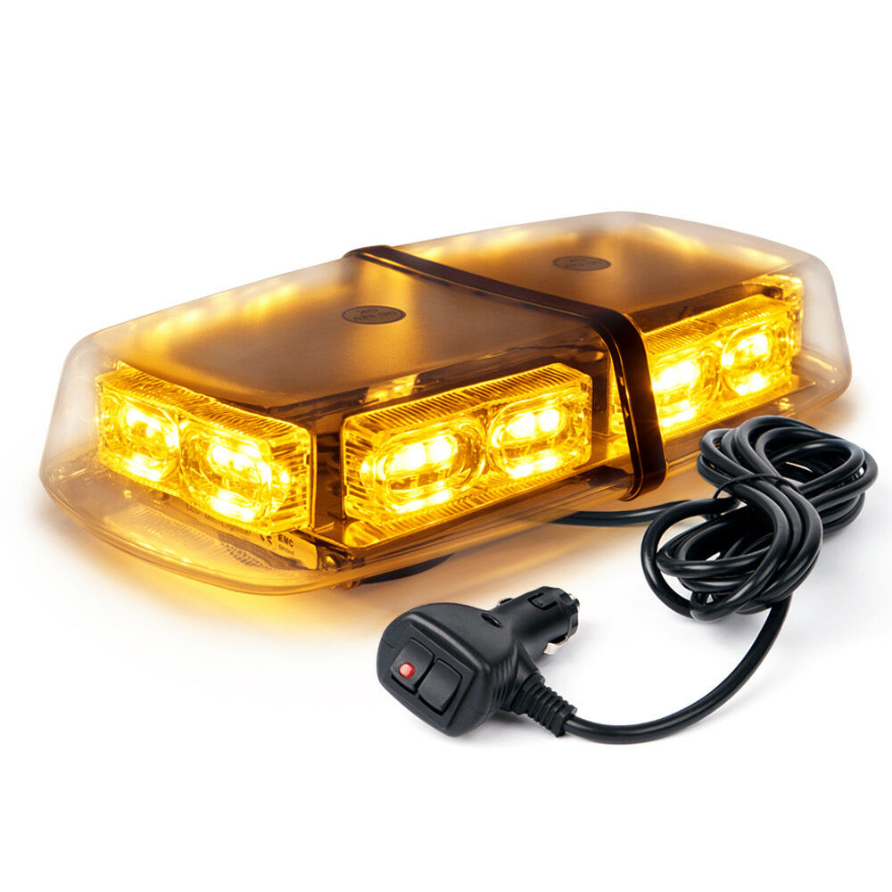 xprite amber yellow roof top flashing emergency warning strobe lights bar 36 led ebay. Black Bedroom Furniture Sets. Home Design Ideas
