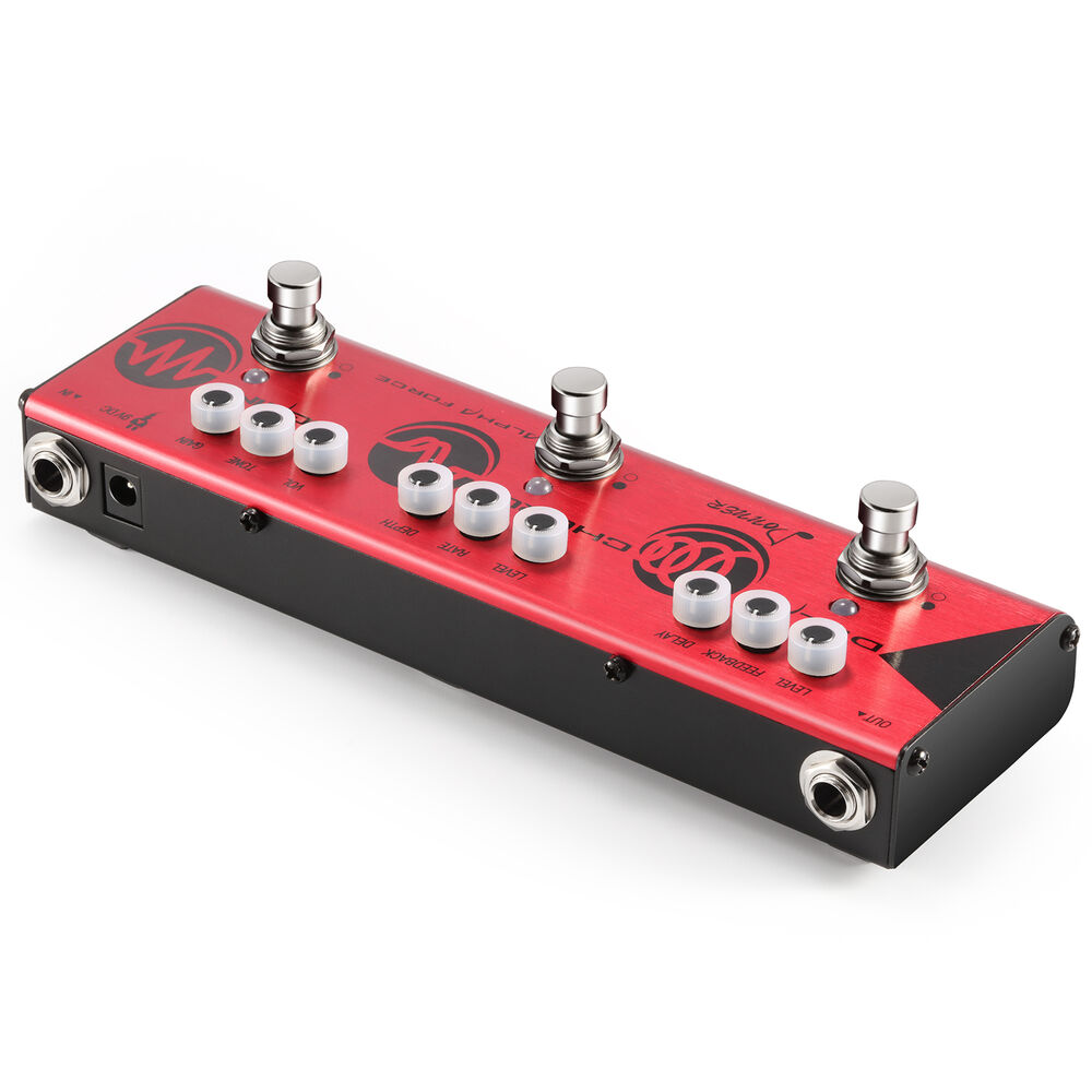 multi alpha force 3 types effects delay chorus high gain pedal with free adapter ebay. Black Bedroom Furniture Sets. Home Design Ideas