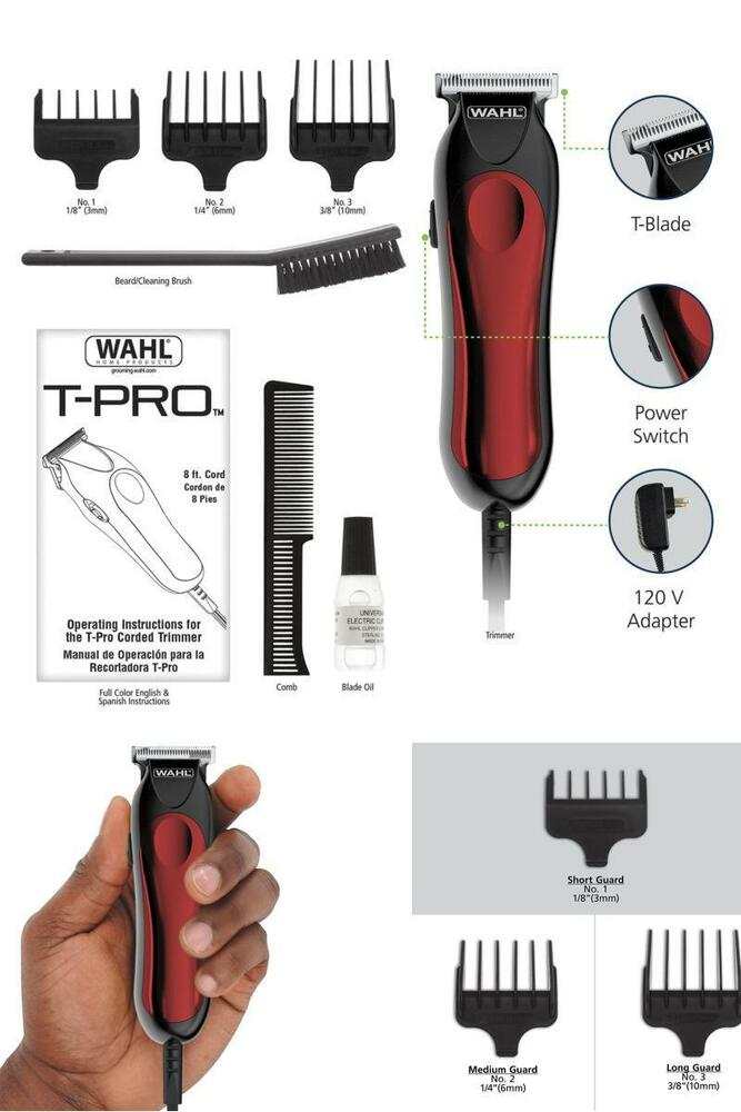 wahl hair clippers beard mustache professional trimmer barber shaver t liner us ebay. Black Bedroom Furniture Sets. Home Design Ideas