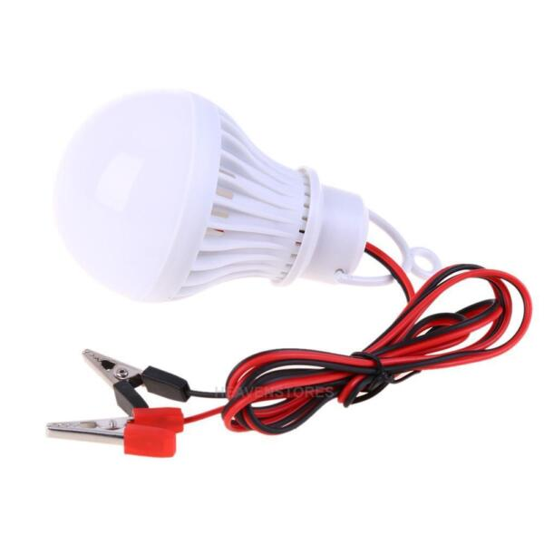 12V 5W Ampoules LED Lampe solaire Accueil Camping Chasse d'urgence Ligh