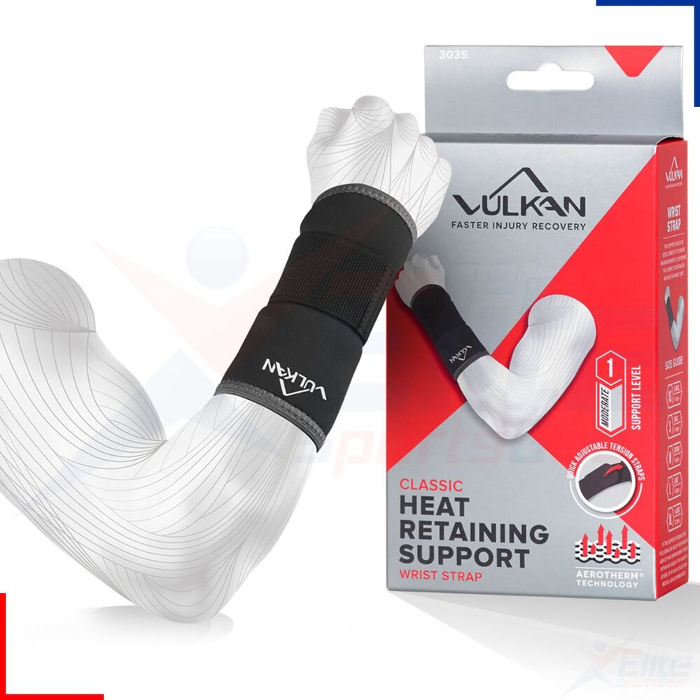 0303b70cd4 Vulkan Wrist Strap Neoprene Wrap Support Sports RSI Pain Guard Injury | eBay