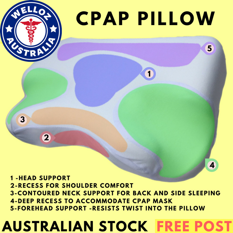 cpap pillow contoured memory foam cpap pillow reduces pressure and mask leak ebay