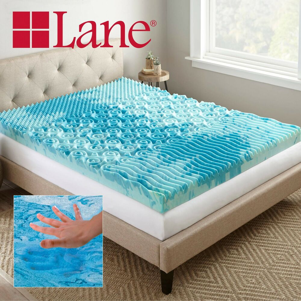 "Queen Size Bed Mattress: 4"" Cooling GelLux Memory Foam Gel Mattress Topper Twin"
