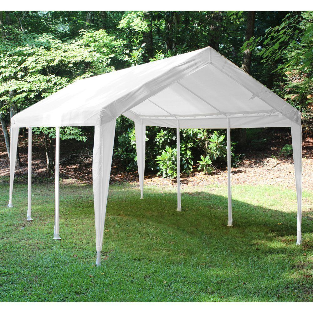 White Canopy Replacement Cover Vehicle Truck Patio Yard ...