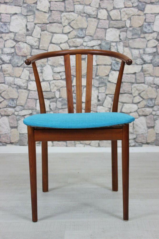 60er teak stuhl armlehnstuhl danish design 60s chair arm chair vintage ebay. Black Bedroom Furniture Sets. Home Design Ideas