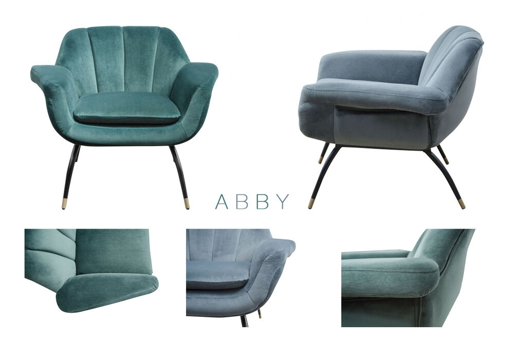 abby sessel samt cocktailsessel gr n grau blau loungesessel von matz m bel ebay. Black Bedroom Furniture Sets. Home Design Ideas