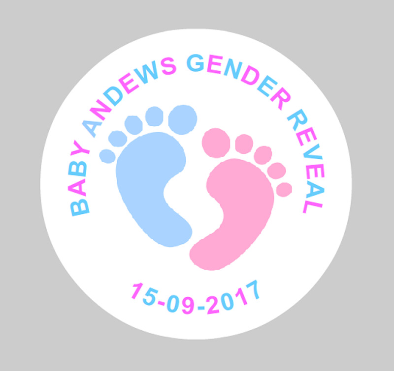 36 personalised gender reveal baby shower stickers labels pink and blue ebay