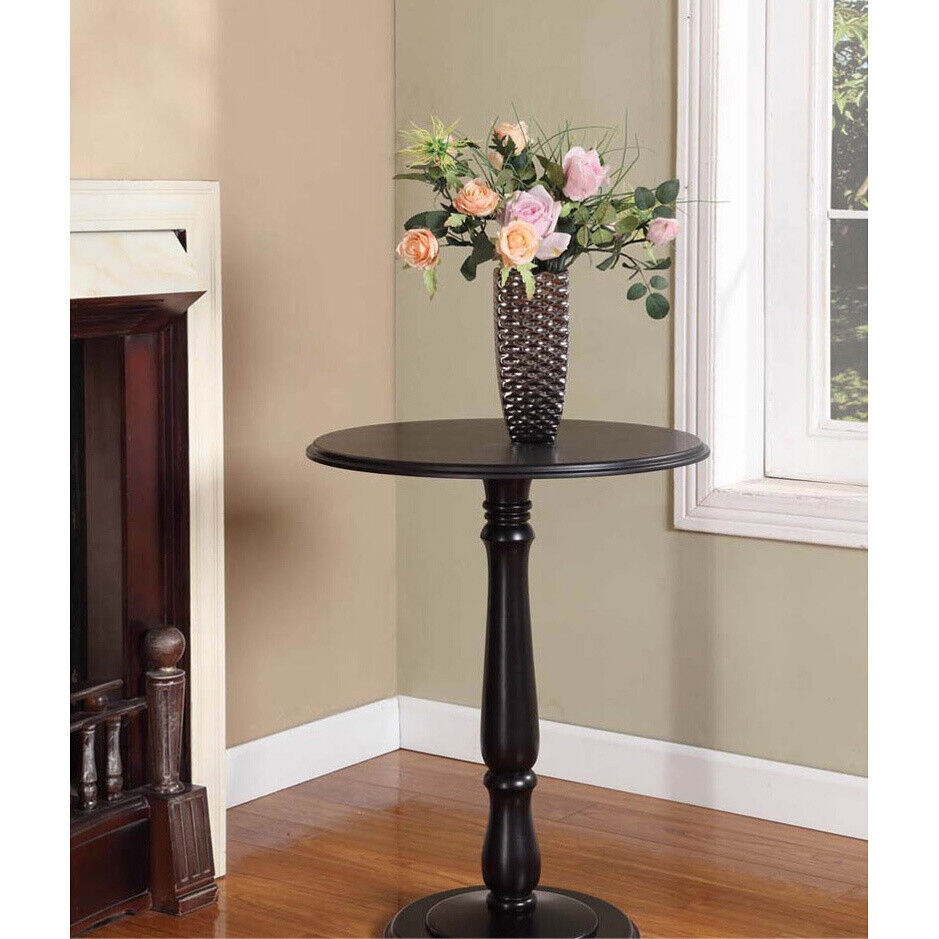 Kings Brand Black Finish Wood Plant Stand Accent Side End