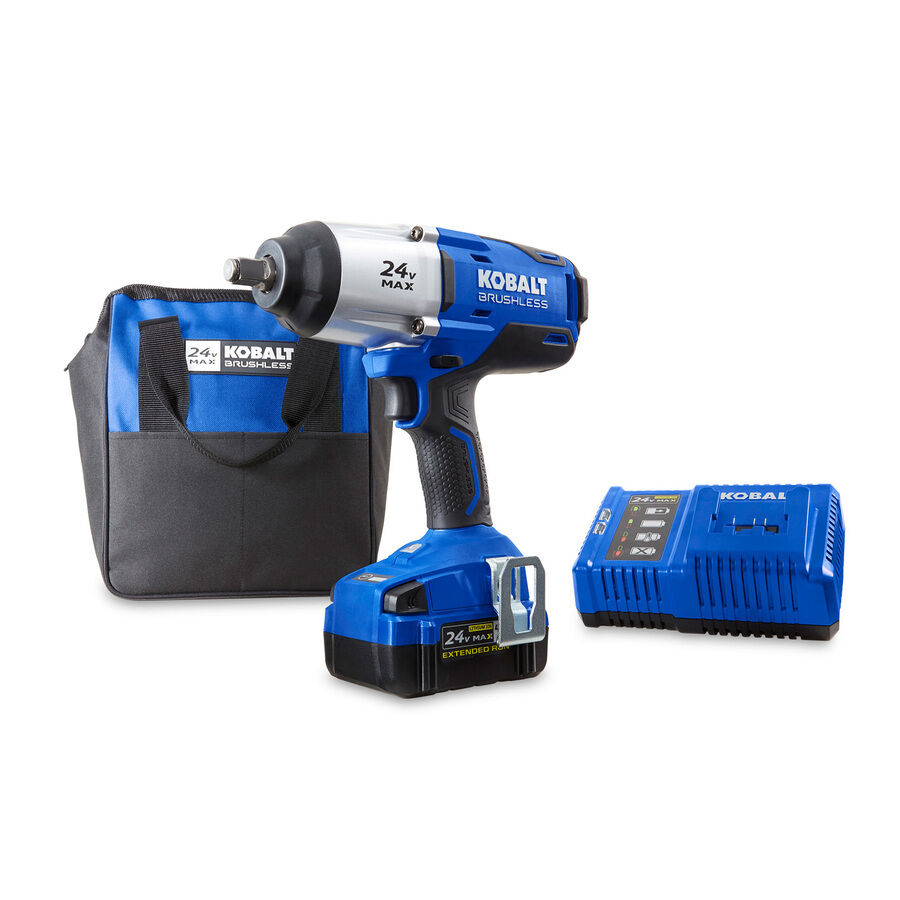 Details About 24 Volt 1 2 Drive Cordless Impact Wrench Battery Charger High Torque 4 0 Ah