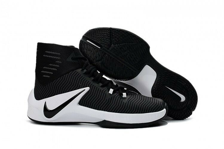 new concept 93a06 70625 ... NIKE MENS ZOOM CLEAR OUT TB BASKETBALL SHOES 844372 002 BLACK WHITE SZ  9 E5 . ...