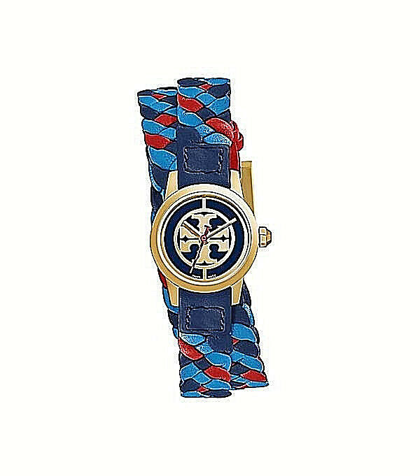 6bf1139deee Details about NWT Tory Burch Women s Gold Watch Double Wrap Leather MINI  REVA TRB4033  295