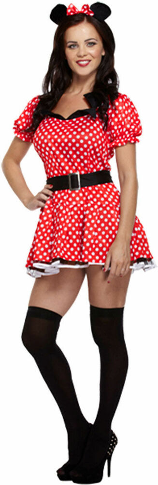 damen sexy maus minnie mouse tier erwachsene rot rot. Black Bedroom Furniture Sets. Home Design Ideas