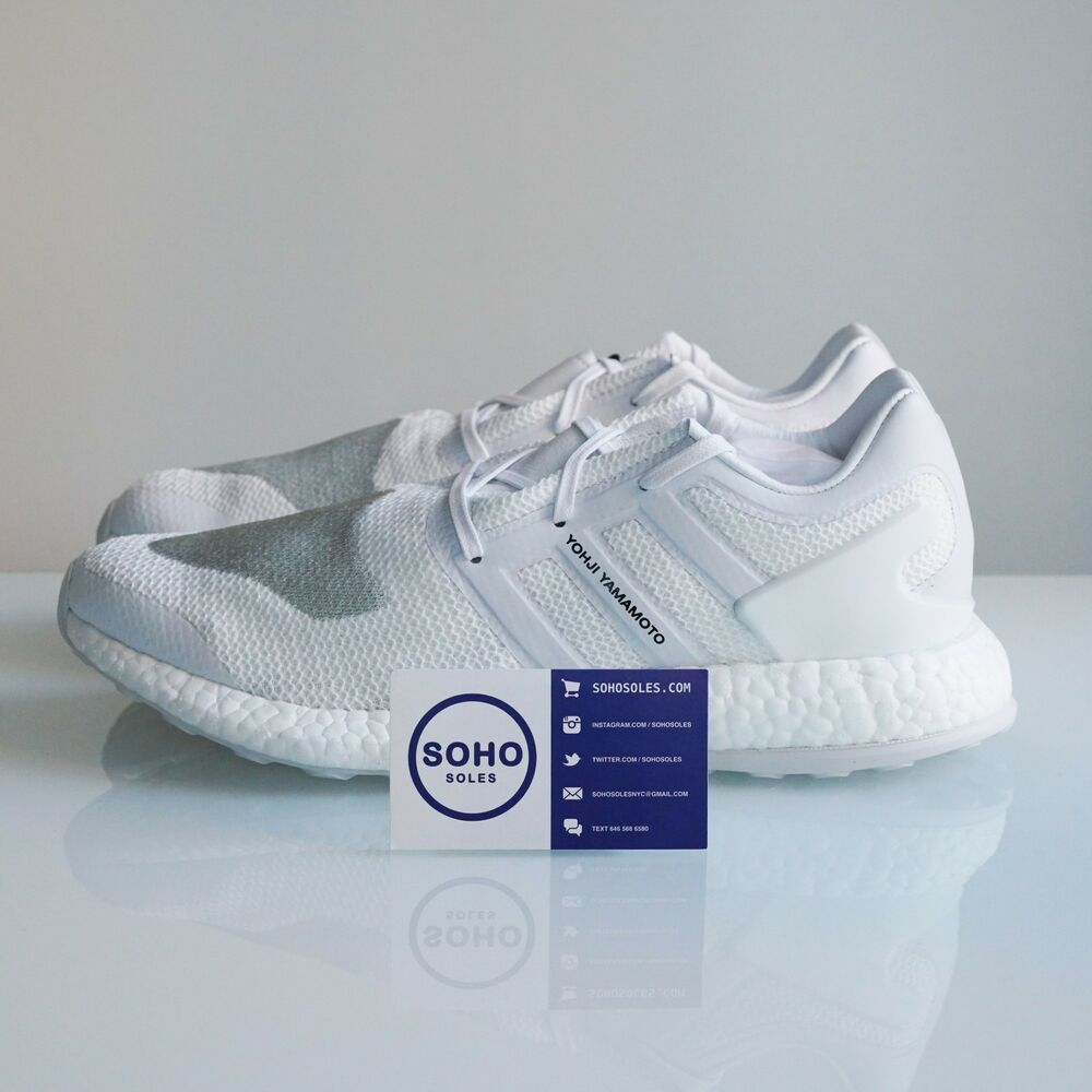 6a31063bde052 Details about ADIDAS Y3 PURE BOOST TRIPLE WHITE YOHJI YAMAMOTO BY8955 SIZE  8.5 9 9.5 10 10.5