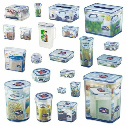 Lock And Amp Lock Plastic Food Storage Containers Cake Lunch