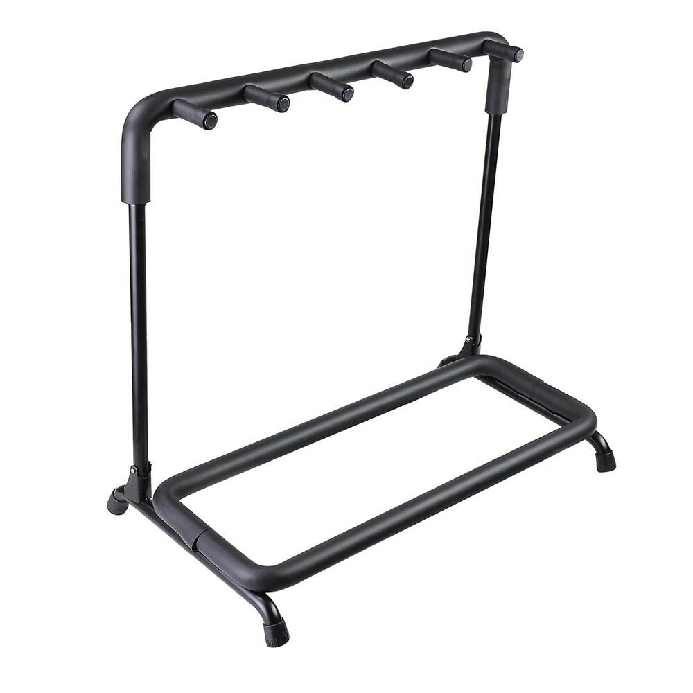 5 five multiple guitar folding stand bass acoustic guitar holder rack display 637509452155 ebay. Black Bedroom Furniture Sets. Home Design Ideas