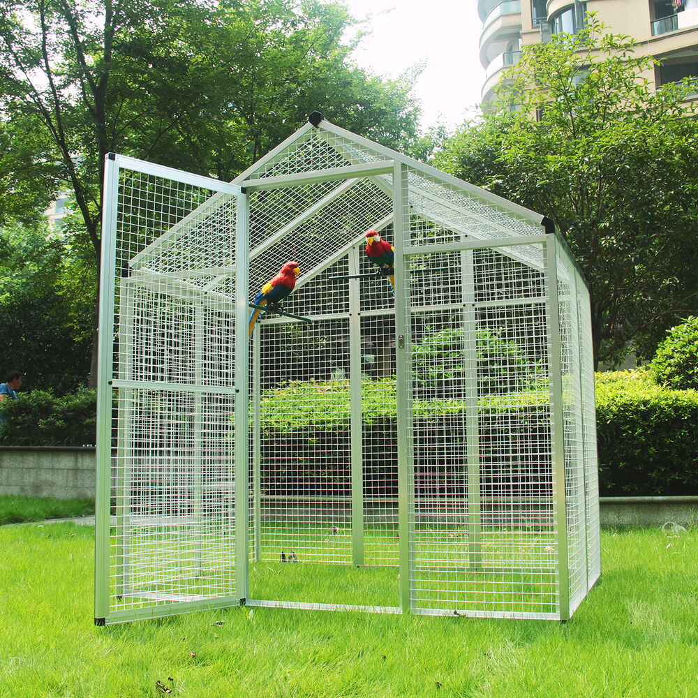 large bird cages heavy duty walk in bird aviary cage parrot macaw 11621