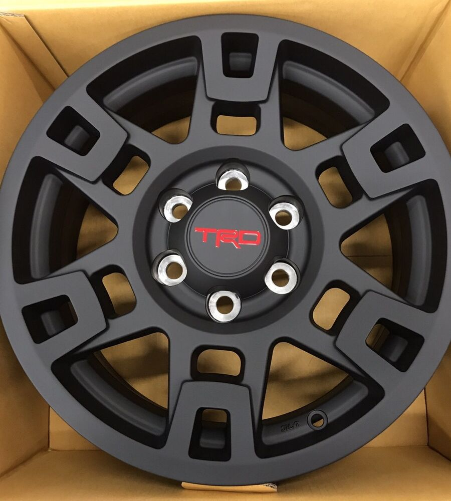 "Complete Set (4) 17"" Black TRD Pro Wheel Toyota Tacoma ..."