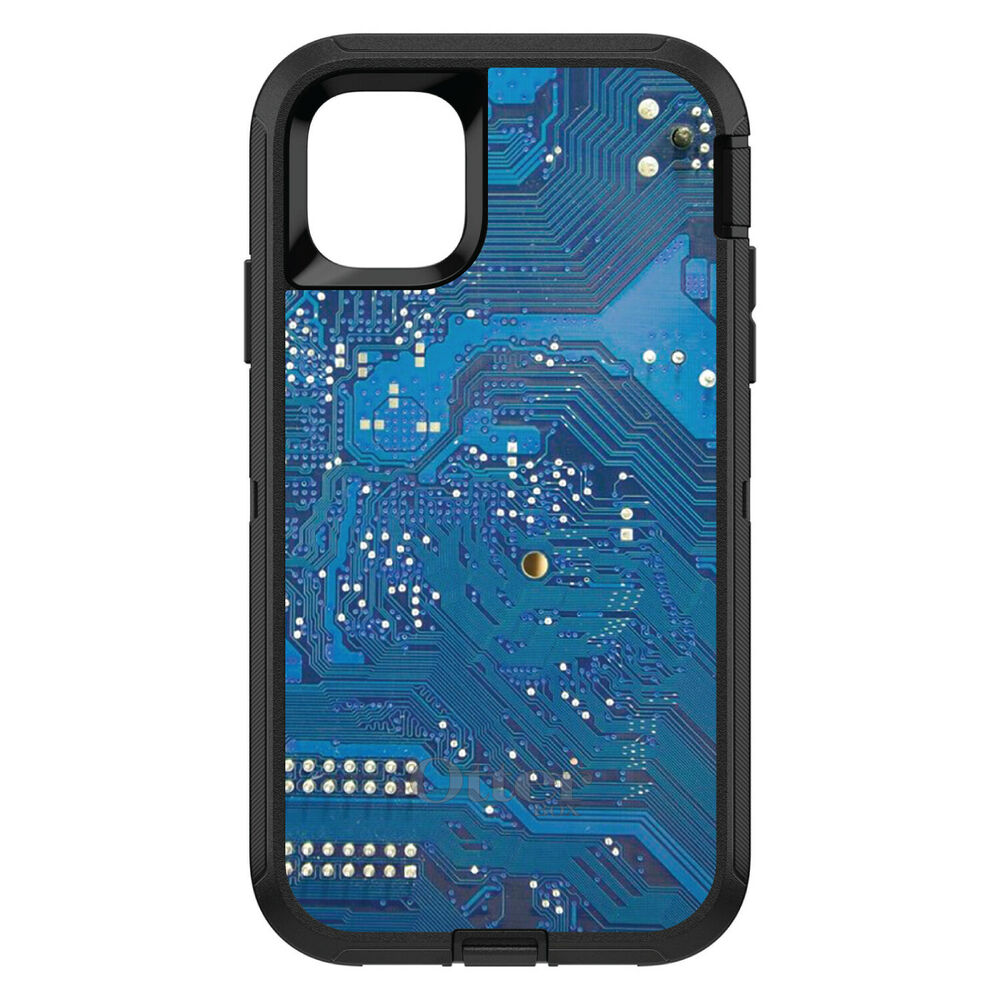Custom Otterbox Defender Case For Galaxy S5 S6 S7 Blue Circuit Board