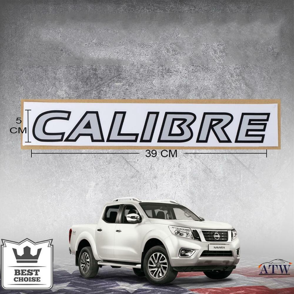 Details about 2pcs calibre sticker decal logo badge silver for nissan navara np300 11