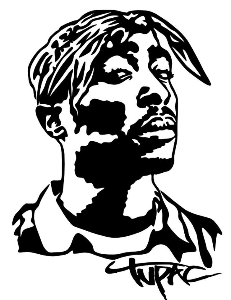 Tupac Shakur Vinyl Decal Sticker Bumper Wall Car 2pac