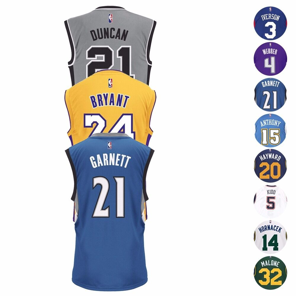 d3816a0d5d0 NBA Legends   HOF Adidas Official Team Player Replica Jersey Collection  Men s