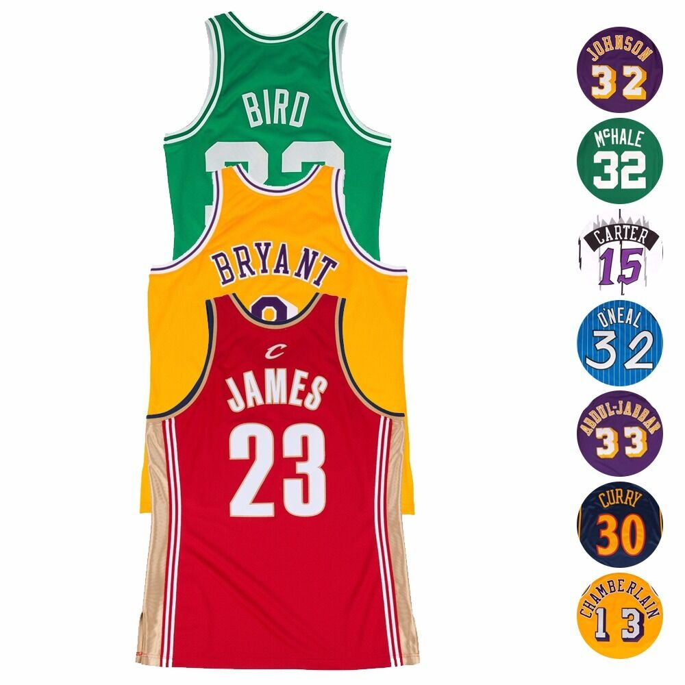 c4f72730b75 NBA Authentic On-Court Throwback Jersey Collection by Mitchell & Ness Men's  | eBay