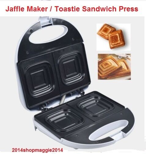 electric jaffle press machine sandwich maker toaster twin. Black Bedroom Furniture Sets. Home Design Ideas