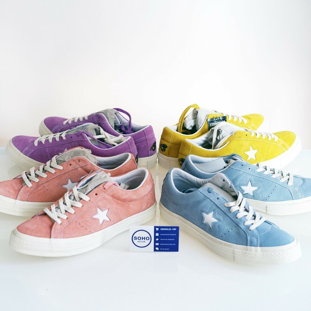 1a75ad93497a6d Details about CONVERSE ONE STAR OX GOLF LE FLEUR TYLER CREATOR WANG 5-12  Yellow Blue Pink Peac