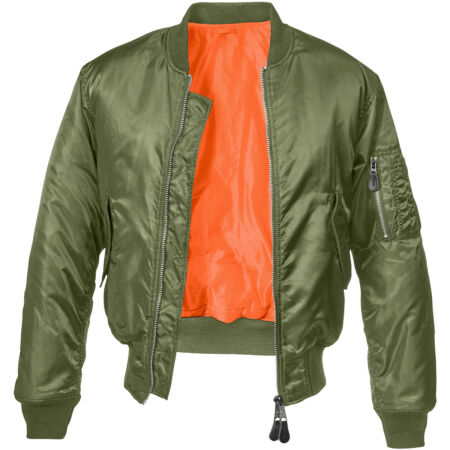 img-Brandit MA1 Jacket Security Mens Bomber Flight Police Nylon Tactical Flyer Olive