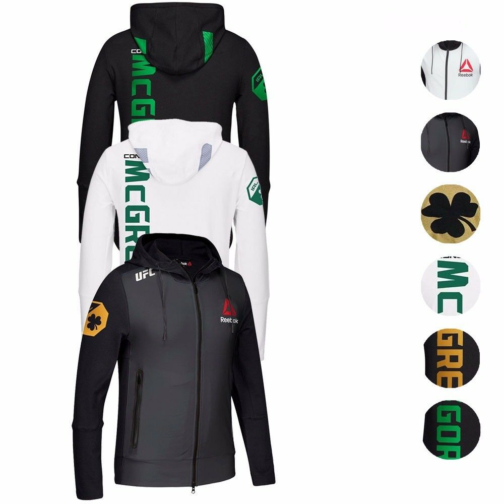 409b08663 Conor McGregor UFC Fight Kit Reebok Champion Walkout Hoodie .. ...