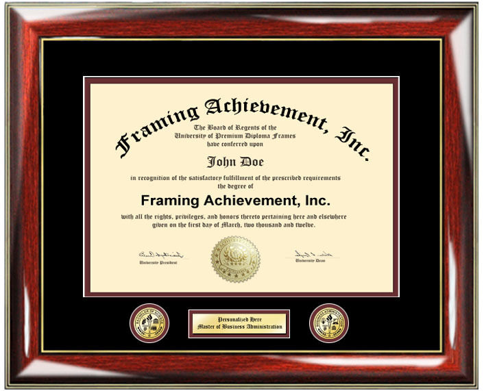college diploma frame engraved two logos university degree plaque certificate - Diploma Frames Cheap