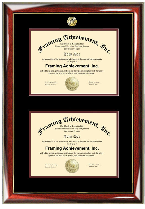 graduation double diploma frame two degree college major