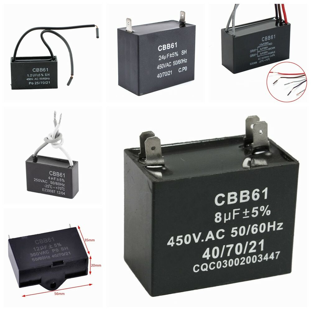 Outstanding Cbb61 Fan Capacitor 3 Wire 1 5 2 5 Ensign - Wiring ...