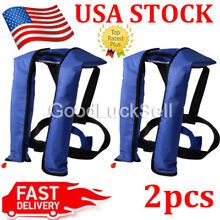 LOT 2~Automatic/Manuel Life Jacket Vest Auto Inflatable PFD Survival Floatation