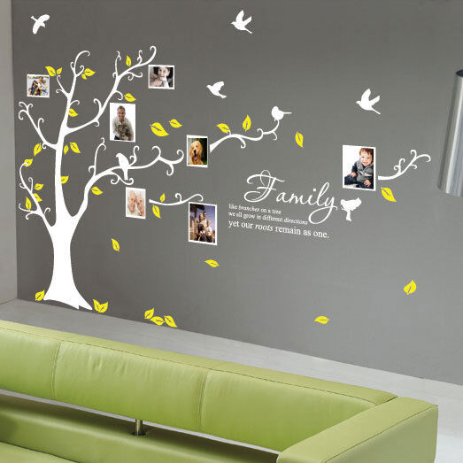family tree bird photo frame wall quotes wall stickers wall art home