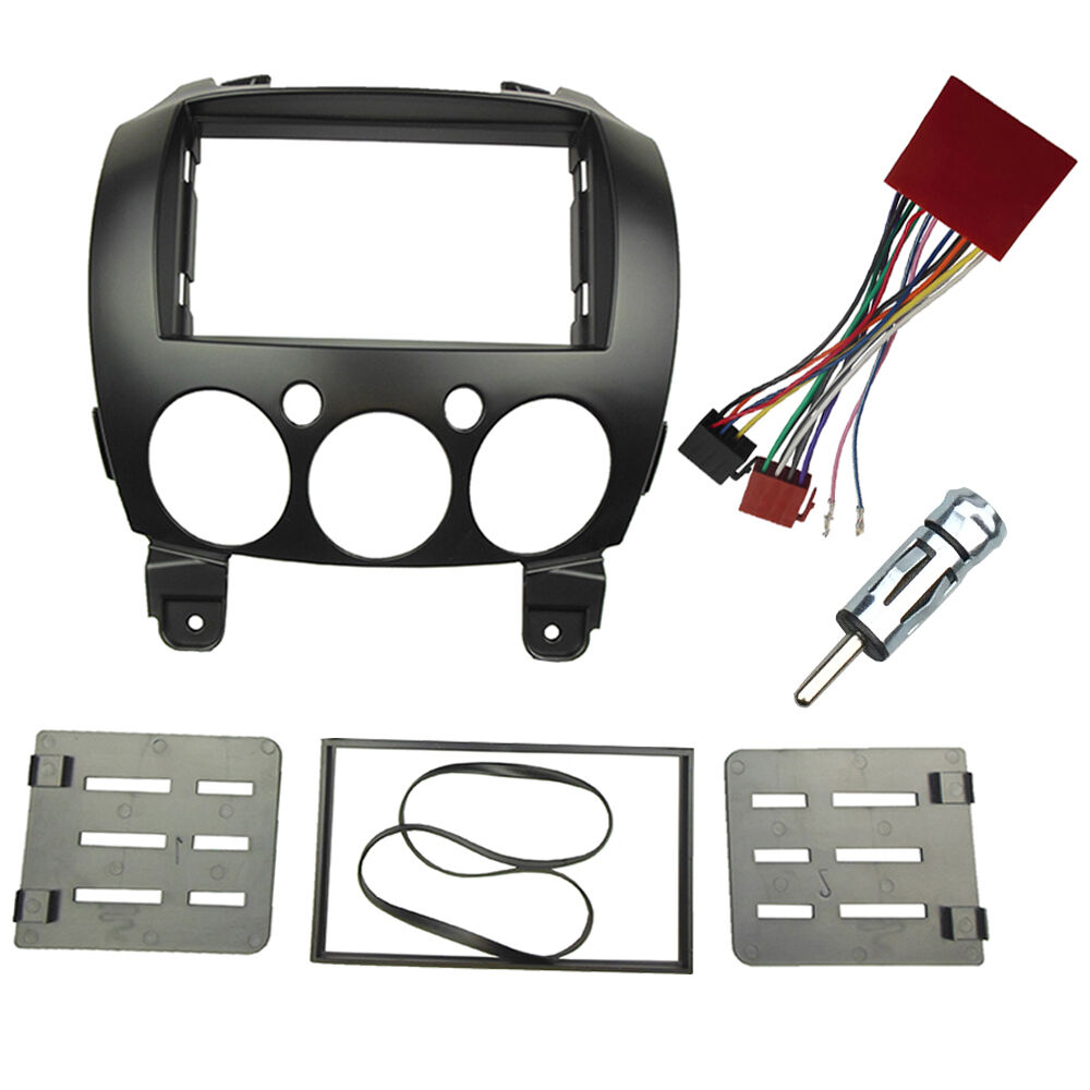 2 Din Radio Fascia For Mazda 2 Demio 2007  Stereo Panel