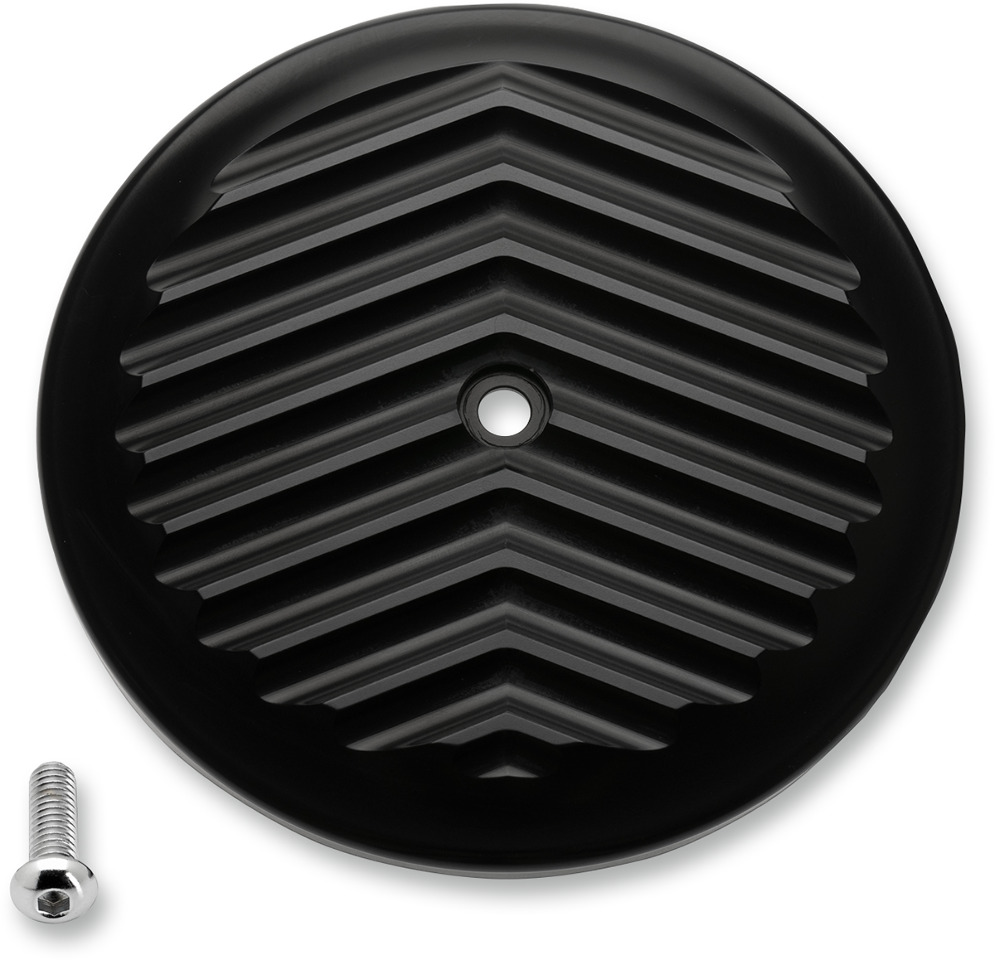 Evo Air Cleaner : Joker machine black fined air cleaner cover harley