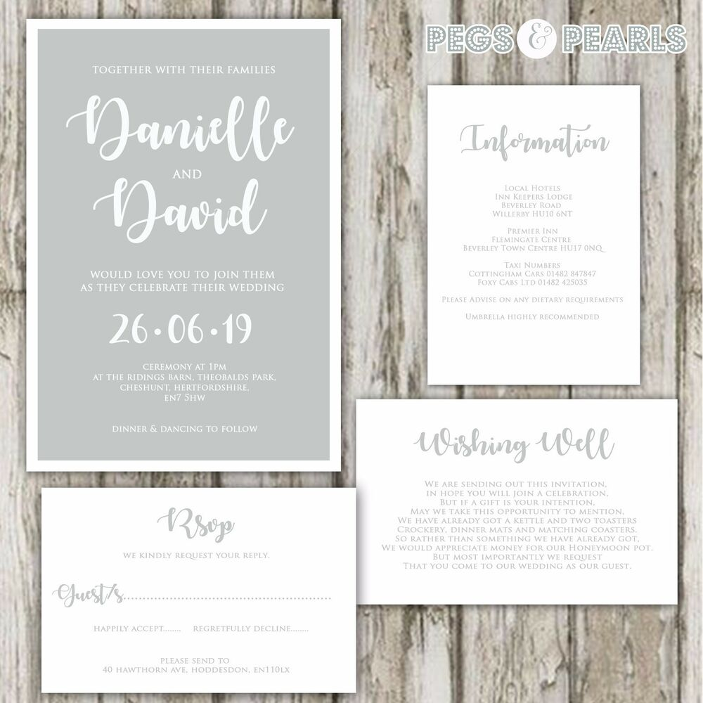 Modern Rustic Wedding Invitations Nz Gift - Invitations Design ...