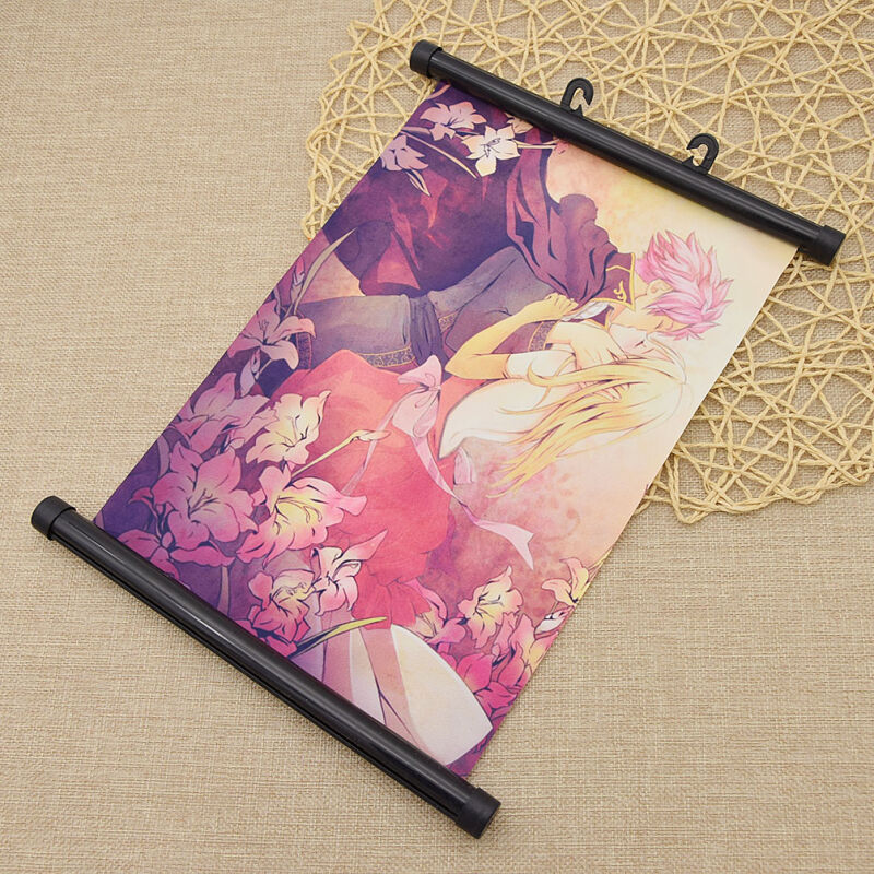 Fairy Tail Pattern Scroll Painting Anime Wall Scroll
