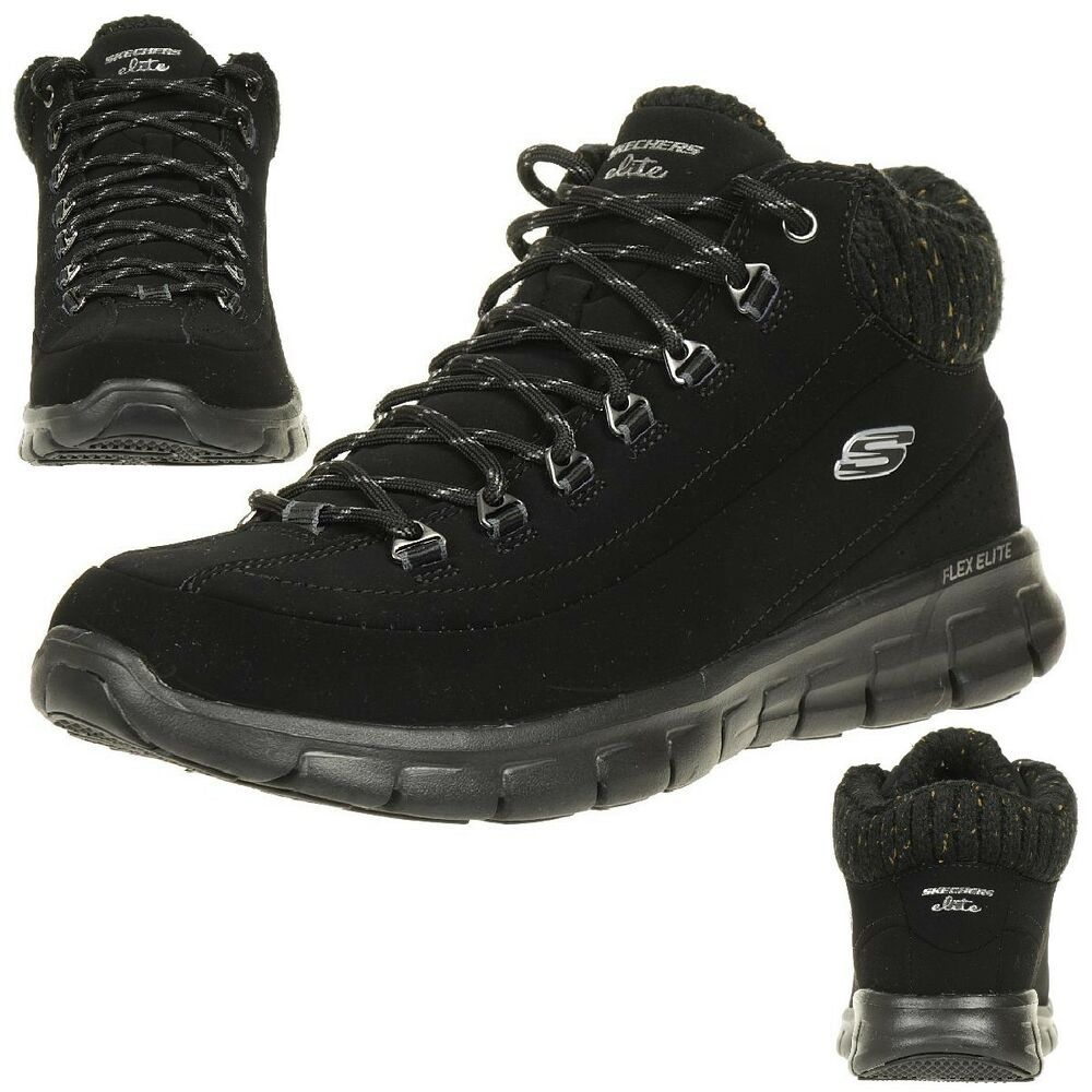 skechers synergy winter nights stiefel damen winterschuhe gef ttert schwarz bbk ebay. Black Bedroom Furniture Sets. Home Design Ideas