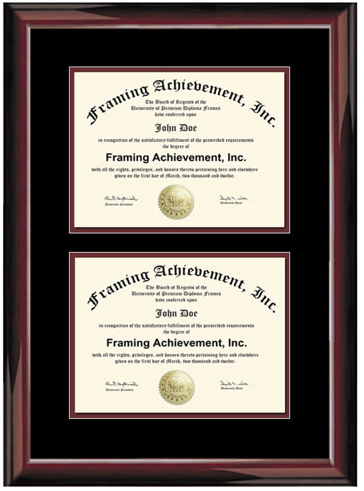 Dual Diploma Frame Double Degree Certificate Framing Two Document ...