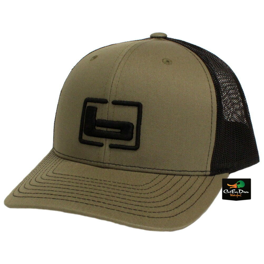 a1532356975 Details about NEW BANDED TRUCKER CAP MESH BACK HAT LODEN AND BLACK W