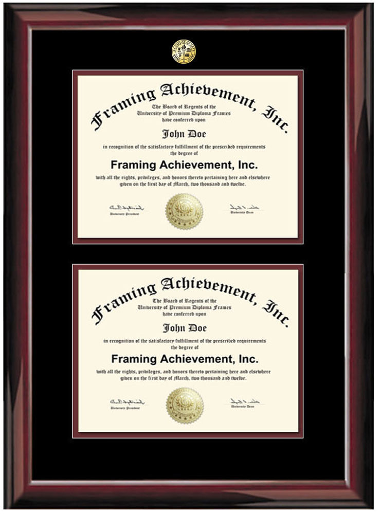 Double Certificate Framing Diploma Framing Two Document Plaque ...