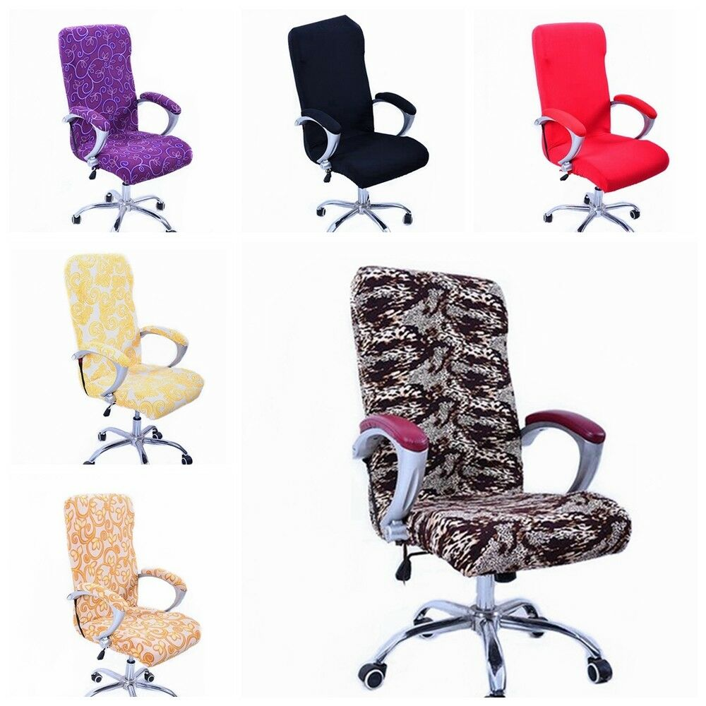 Home Decorat: Swivel Computer Chair Cover Stretch Office Armchair