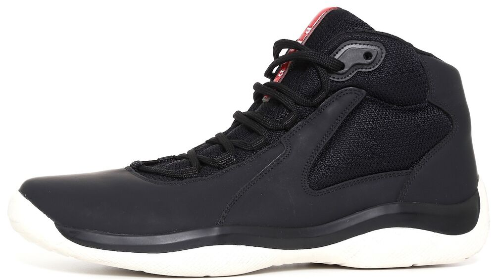 948ec7fa96 Details about PRADA 4T 2871 Punta Ala High Top Men s Black Sneaker Size 9.5  9983