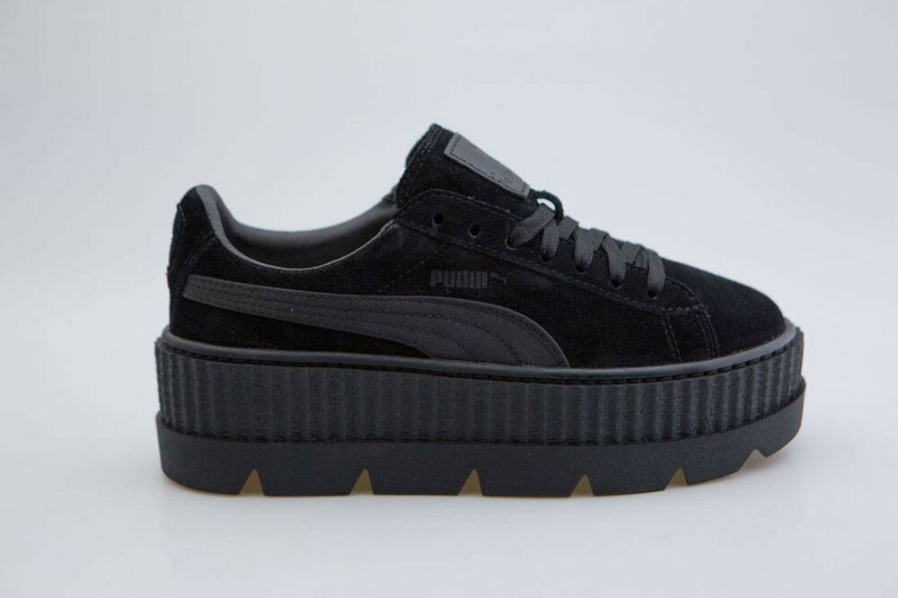 Détails    160 Puma x Fenty By Rihanna Women Cleated Creeper Suede black  366268-04 c1f5d9ae8