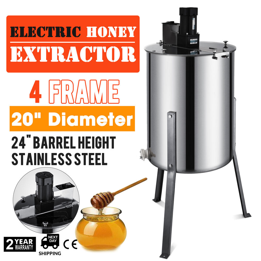 Pro Electric 4/8 Frame Stainless Steel Honey Extractor ... - photo#8