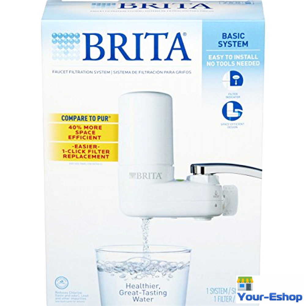 Faucet water filter for kitchen sink brita for kitchen - Brita On Tap Faucet Mount Drinking Water Filter System Kitchen Bathroom Filters