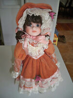 "Dynasty Dolls ""Rose"" porcelain 15"" doll with Stand"