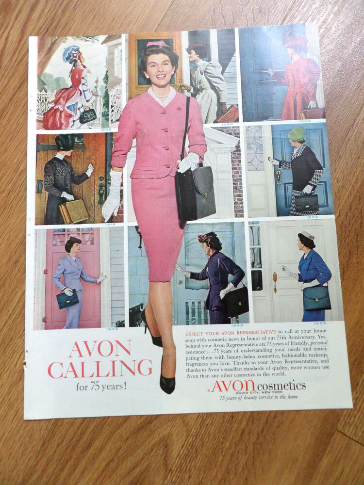 1961 Avon Cosmetics Ad  Avon Calling for 75 years History in Pictures 1886 -1956  | eBay